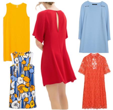 vestidos zara color primavera-verano 2014