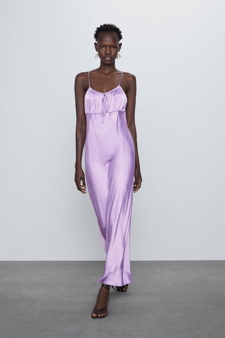 Vestido Invitada Zara Sencillez 01
