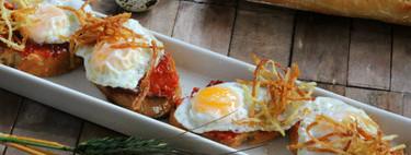 Pinchos de huevo de codorniz con sobrasada, para alegrar tus entrantes o servir de aperitivo