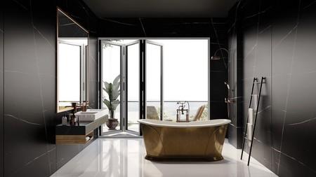 Silestone Eternal Noir Bathroom