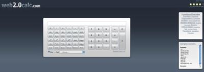Web2.0calc, otra calculadora online