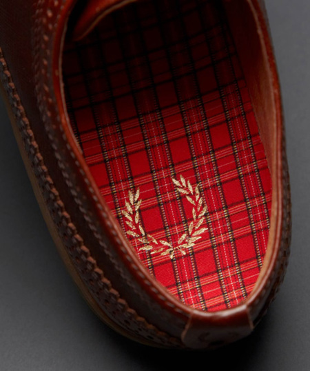 interior fred perry zapato