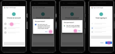 Nuevos Permisos Cuenta Google