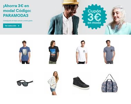 Código de descuento de 3 euros en la sección de moda de eBay con marcas como Nike, Quiksilver, Dc Shoes o Guess