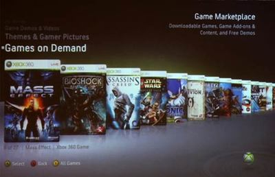 Games on Demand de Xbox 360 en vídeo