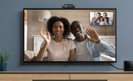 Si tienes un Amazon Fire TV Cube podrás conectarlo a una webcam para hacer videollamadas desde la tele