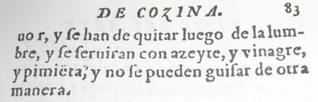 Espárragos como en 1607