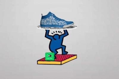 Keith Haring colaborando para Tommy Hilfiger