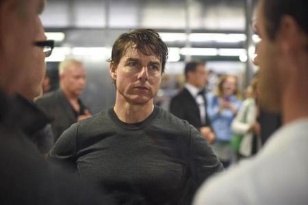Tom Cruise en el rodaje de Mision Imposible 5
