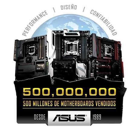 ASUS celebra 500 millones de motherboards vendidas durante los últimos 25 años