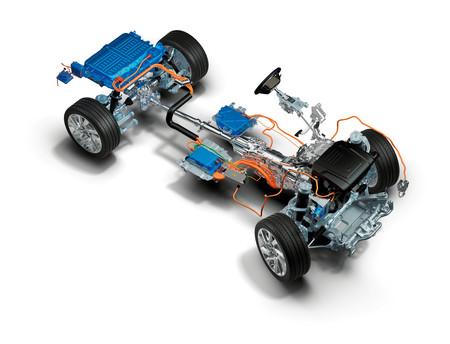 Range Rover Sport PHEV esquema híbrido