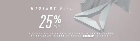 Sólo hoy tenemos un 25% de descuento en cientos de artículos en Reebok gracias a los Mystery Deals