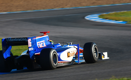 Sergio Canamasas Test GP2 Jerez Trident