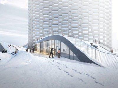 Copenhague tendrá una rampa de esquí en el tejado de una central eléctrica verde