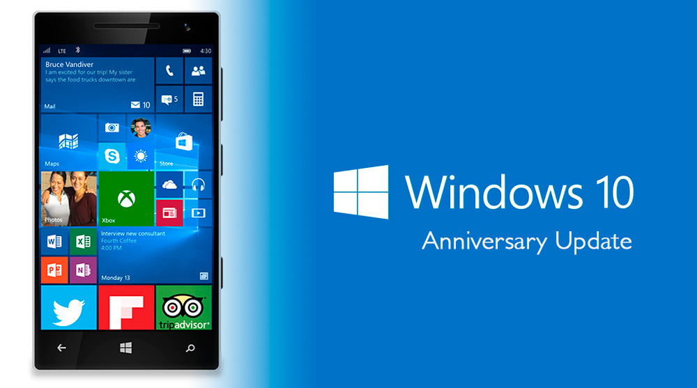 windows 10 phone anniversary update