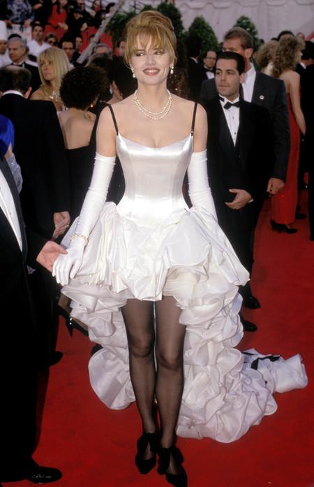 Geena Davis Ruth Meyers Bill Hargateat Oscar 1992