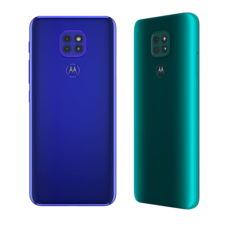 Moto G9 Play Sapphire Blue Backside