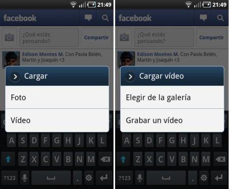 Facebook para Android ahora con soporte para subir vídeos