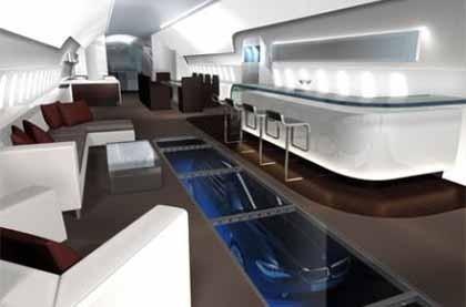 La cabina de un jet privado diseñada por BMW