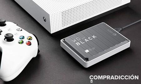 Si buscas almacenamiento extra para tu consola Amazon tiene el WD Black P10 Game Drive de 4 TB a precio mínimo por sólo 83 euros