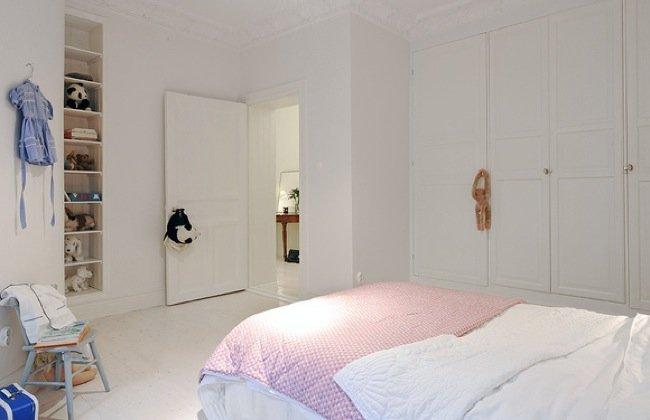 Dormitorios infantiles de estilo n rdico for Dormitorio estilo nordico blanco