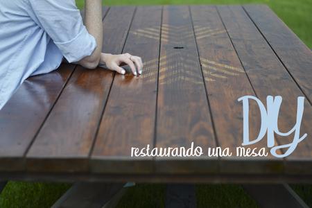 DIY: cómo renovar una mesa de exterior paso a paso