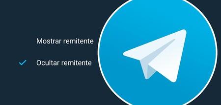 Cómo esconder el remitente en Telegram cada vez que reenvías un mensaje