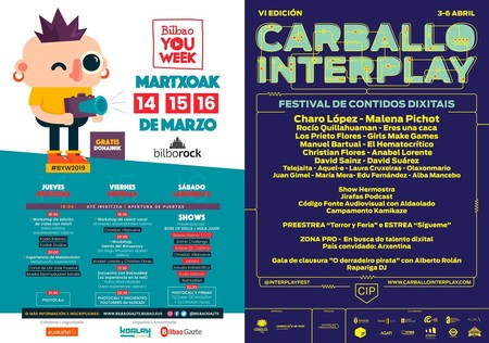 Bilbao You Week y Carballo Interplay, las dos citas con creadores digitales que no te puedes perder