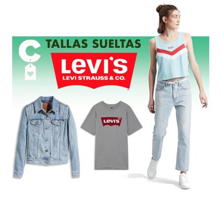Chollos en tallas sueltas de camisetas, pantalones y chaquetas vaqueras Levi's en Amazon
