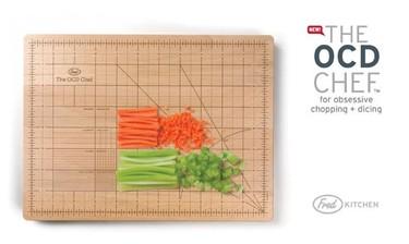 Una tabla de cortar milimetrada para maniáticos