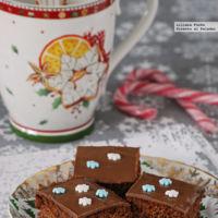 Pan de especias de chocolate y naranja. Receta de Navidad