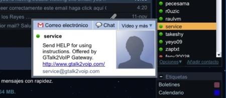 GTalk2Voip aprovecha los audiochats  de Gmail para ofrecer telefonía VoIP
