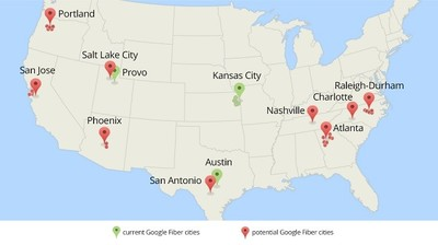Google sigue buscando más ciudades de EEUU a las que llevar su fibra óptica hasta el hogar