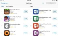 Las aplicaciones de Microsoft Office copan los primeros puestos en la App Store