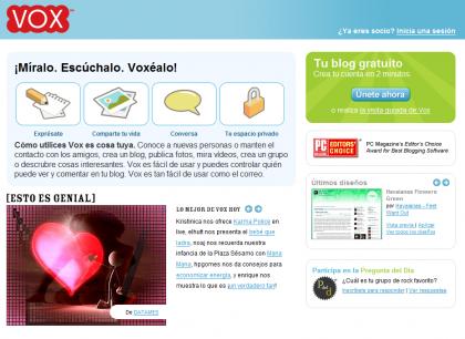 Crea tu blog con Vox en español