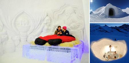 Duerme como un esquimal en este hotel de iglús