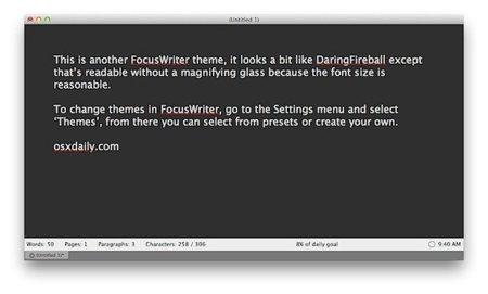 Focus Writer, otro editor de texto minimalista pero gratuito
