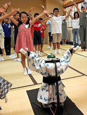 Robot vestido para la ocasión