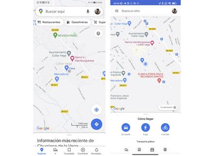 Maps Interfaz