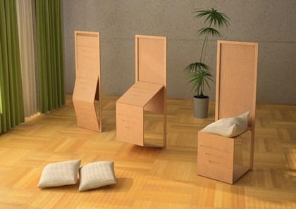 Biombo Chair: silla y biombo