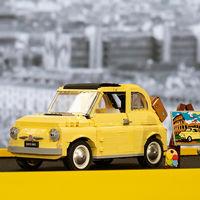Así es el Fiat 500 clásico de LEGO, que rinde homenaje a la 'dolce vita' romana