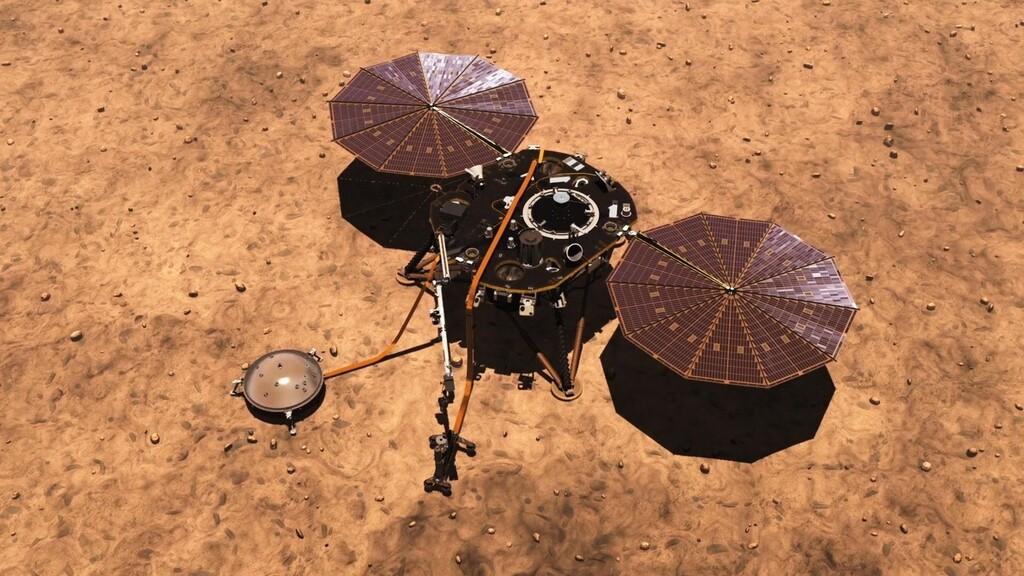El rover InSight de la NASA entra en