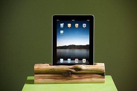 Dock rústico para el iPad