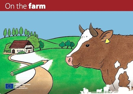 """Libro para imprimir y colorear """"En la granja"""""""