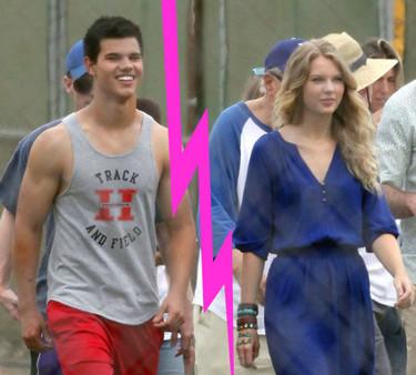 Taylor Swift y Taylor Lautner rompen