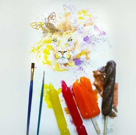 Pintar con helados
