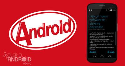 Telcel libera la actualización a KitKat para el Moto X