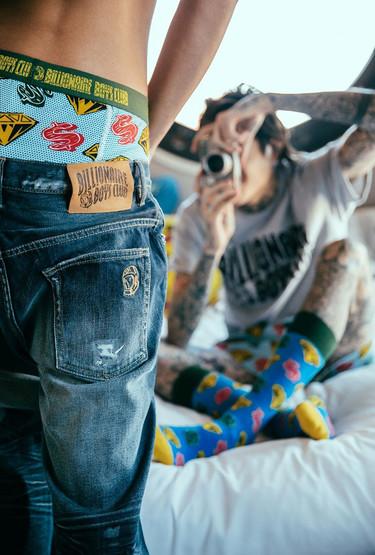 La colaboración entre Happy Socks y Billionaire Boys Club nos propone ropa interior con tanta marcha como esta