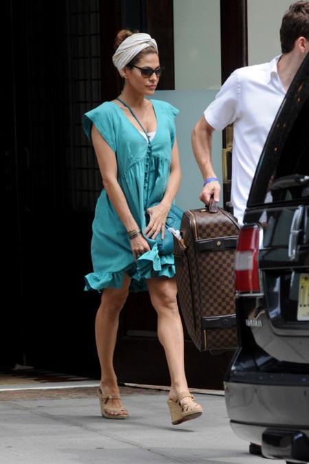 Eva Mendes turbante pañuelo