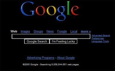 Google de negro y minimalista a elegir